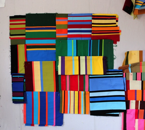 Sorting strip pieced fabrics