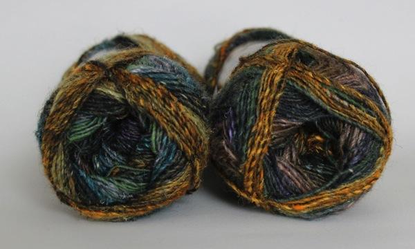 Resized noro yarn