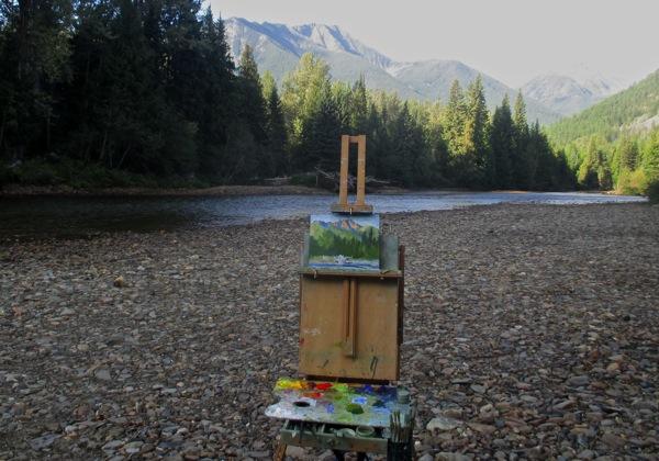 Painting on beach