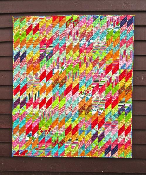 Closeup Piper s quilt on studio 2