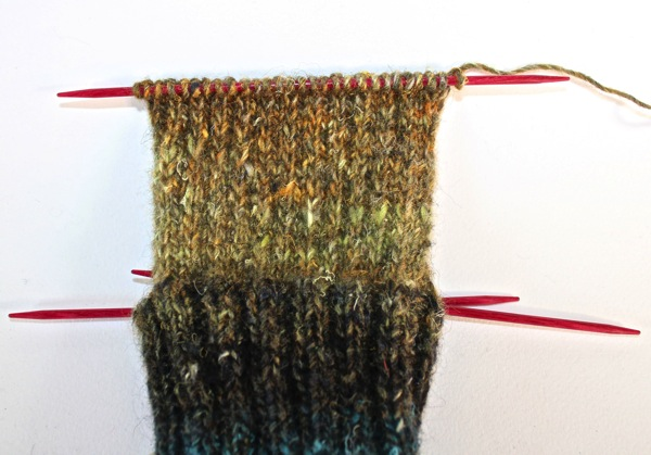 Completed heel flap