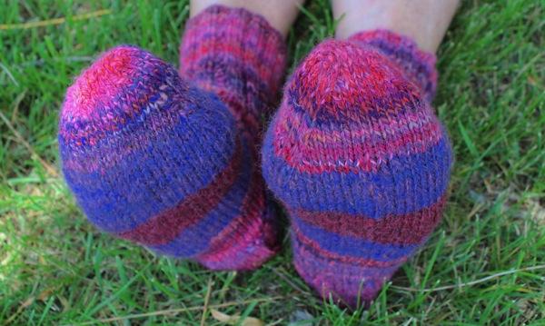 Louise s socks on feet 2