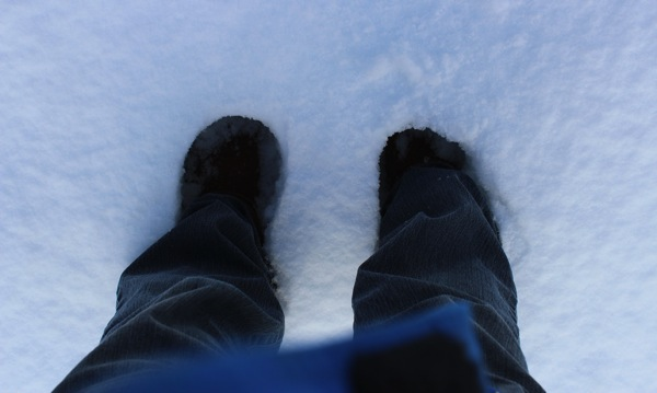 Standing in snow