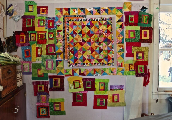 With medallion quilt