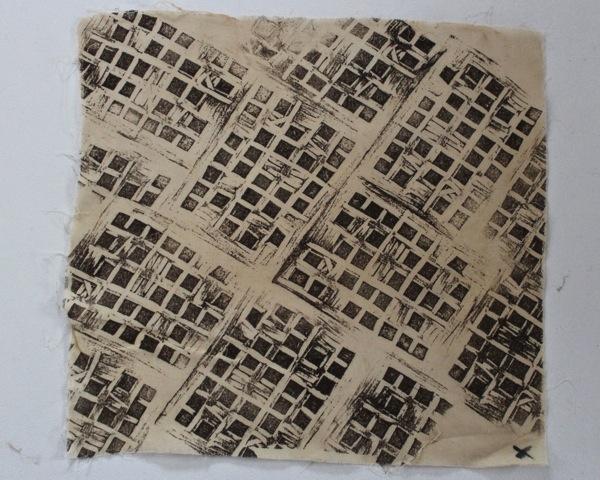 Mosaic block print