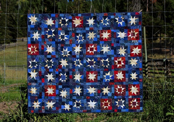 Whole quilt on fence