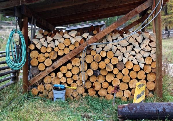 October woodshed