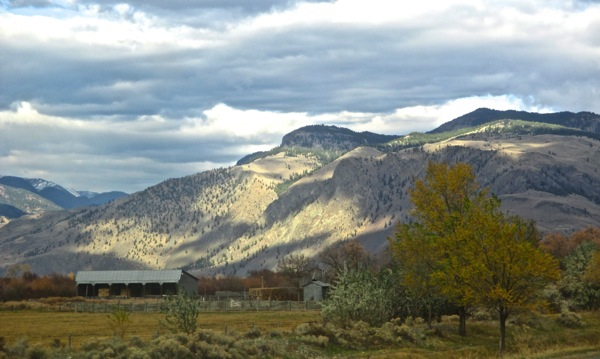 Light and shadow on similkameen nov 14