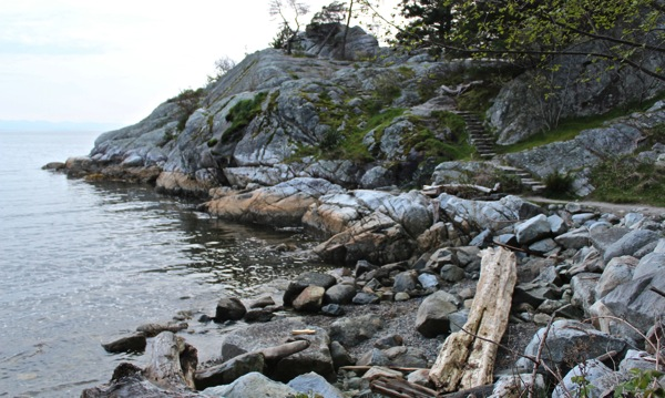 Rock steps at whytecliff