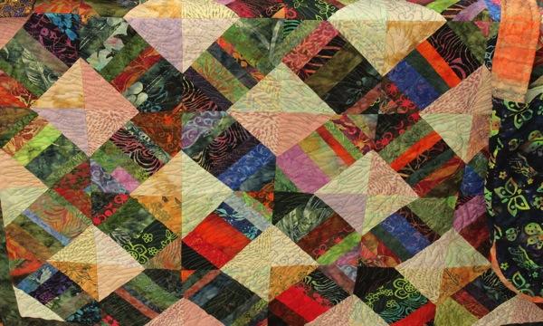 Batik scrap quilt