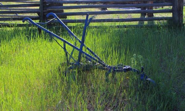 Blue plow