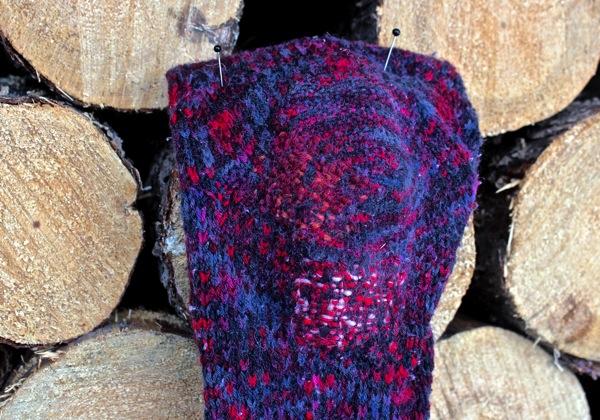 First sock three darns