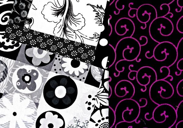 B w w purple swirl on black