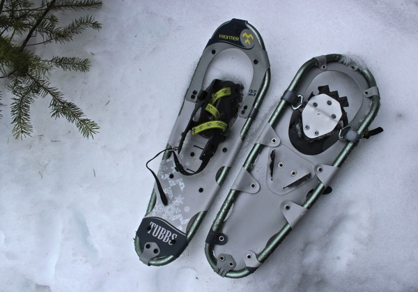 Snowshoes front and back
