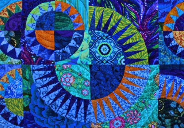 Lap quilt closeup