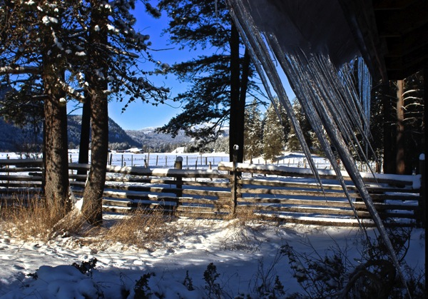 Icicles and valley