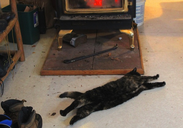 Soop stretching by stove