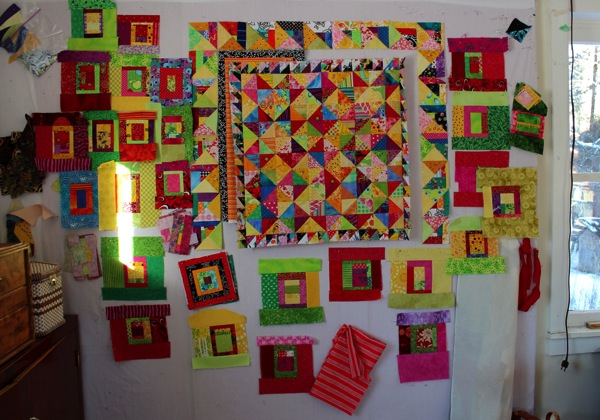 Two quilts in progress