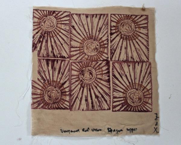 Sunburst block print