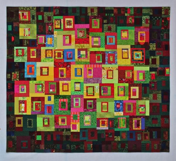 Sunlit Flowerbed full quilt