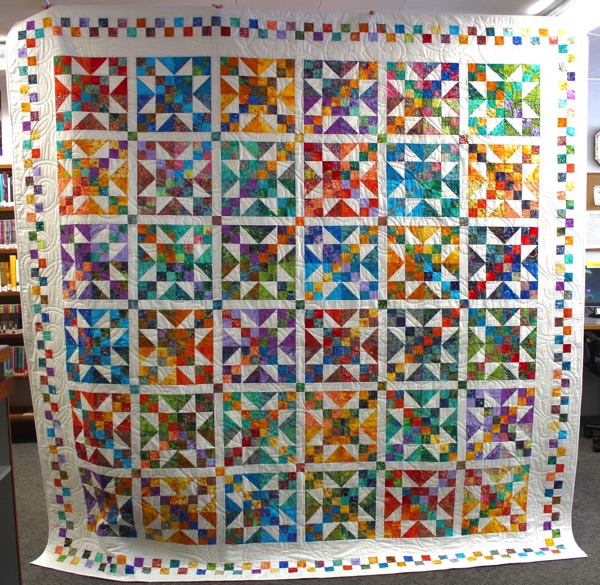 Greenwood Library raffle quilt